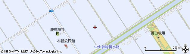 茨城県稲敷市本新周辺の地図