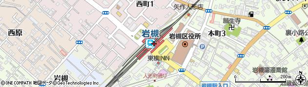 埼玉県さいたま市岩槻区周辺の地図