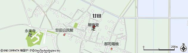 茨城県稲敷市甘田周辺の地図