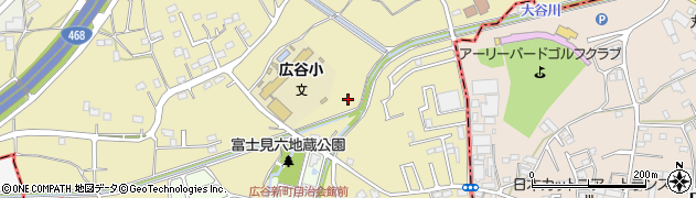埼玉県川越市下広谷周辺の地図