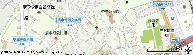 茨城県守谷市百合ケ丘周辺の地図