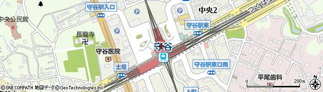 茨城県守谷市周辺の地図