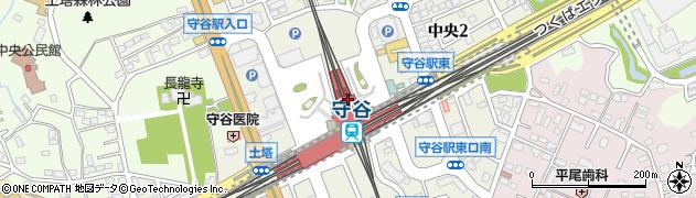 関東鉄道株式会社 守谷駅周辺の地図