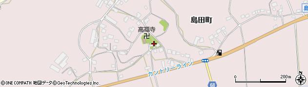 茨城県牛久市島田町周辺の地図