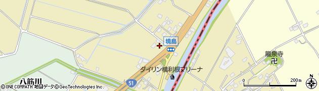 茨城県稲敷市境島周辺の地図