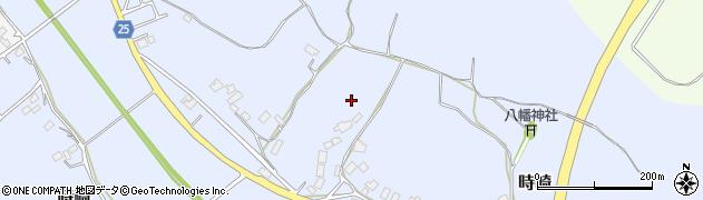 茨城県稲敷市時崎周辺の地図