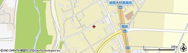 埼玉県川越市福田周辺の地図