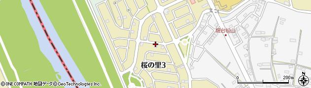 千葉県野田市桜の里周辺の地図
