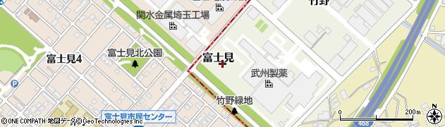 埼玉県川越市富士見周辺の地図