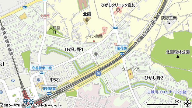 〒302-0131 茨城県守谷市ひがし野の地図
