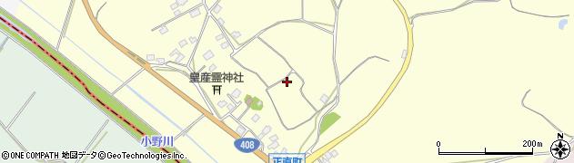 茨城県牛久市正直町周辺の地図
