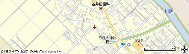 茨城県つくばみらい市谷井田周辺の地図