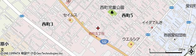 埼玉県さいたま市岩槻区西町周辺の地図