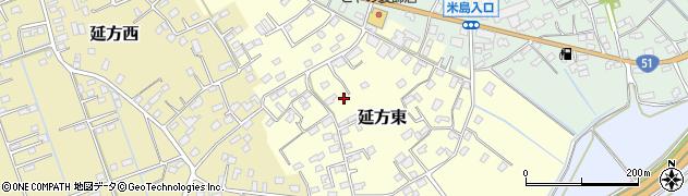 茨城県潮来市延方東周辺の地図