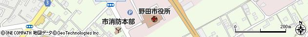 千葉県野田市周辺の地図