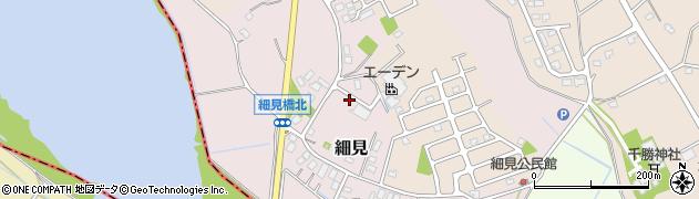茨城県つくば市細見周辺の地図