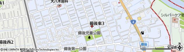 埼玉県春日部市備後東周辺の地図
