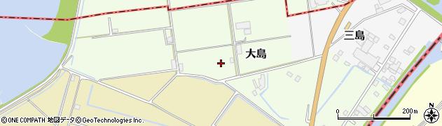 茨城県稲敷市大島周辺の地図