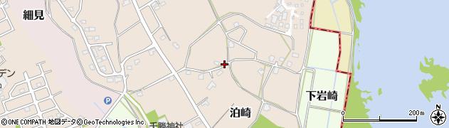 茨城県つくば市泊崎周辺の地図