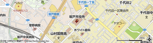 埼玉県坂戸市周辺の地図