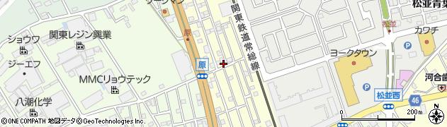 茨城県守谷市松並周辺の地図