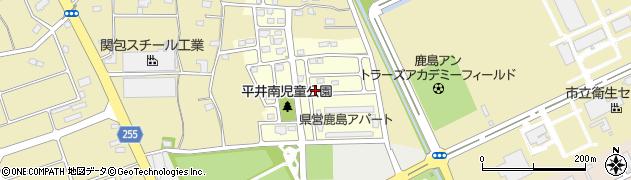 茨城県鹿嶋市平井南周辺の地図