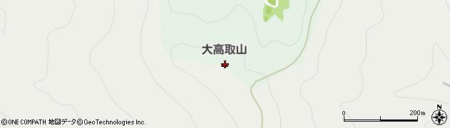 大高取山周辺の地図