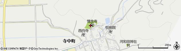 憶念寺周辺の地図