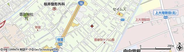 埼玉県春日部市増富周辺の地図