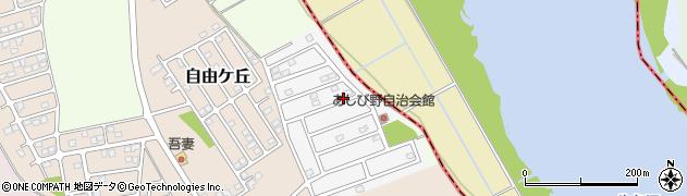 茨城県つくば市あしび野周辺の地図