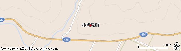 福井県福井市小当見町周辺の地図