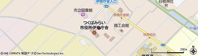 茨城県つくばみらい市周辺の地図