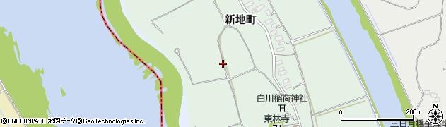 茨城県牛久市新地町周辺の地図