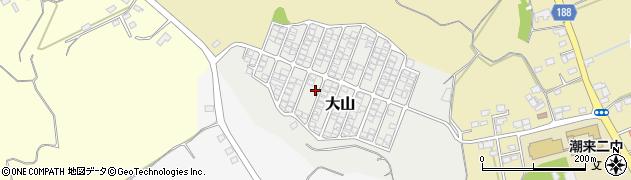 茨城県潮来市大山周辺の地図