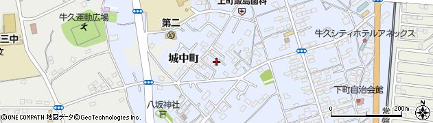 茨城県牛久市牛久町周辺の地図