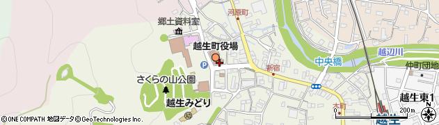 埼玉県入間郡越生町周辺の地図