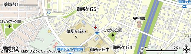 茨城県守谷市御所ケ丘周辺の地図