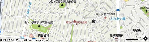 東みどり野区民会館周辺の地図