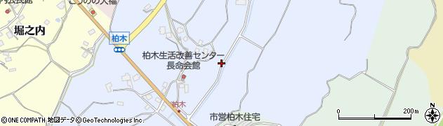 茨城県稲敷市柏木周辺の地図