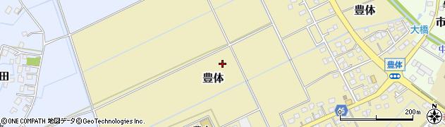 茨城県つくばみらい市豊体周辺の地図