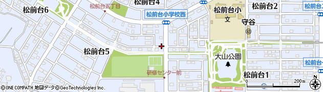 茨城県守谷市松前台周辺の地図