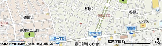 日商岩井春日部マンション周辺の地図
