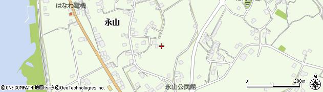 茨城県潮来市永山周辺の地図