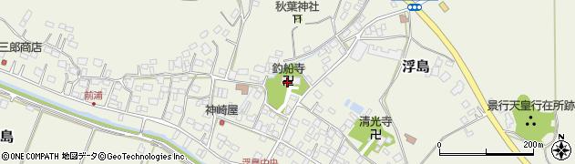 釣船寺周辺の地図