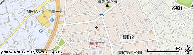 埼玉県春日部市豊町周辺の地図