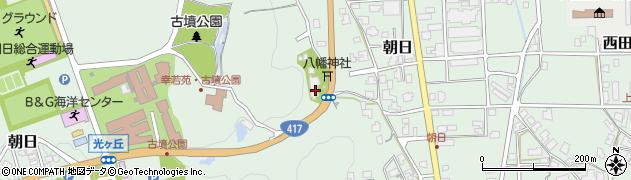 朝日観音福通寺周辺の地図