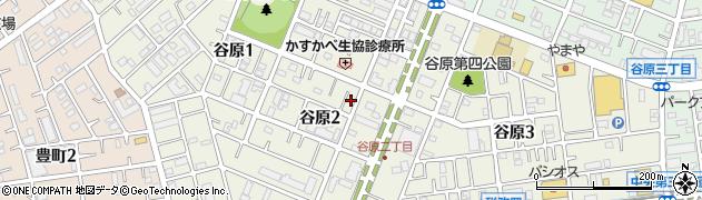 埼玉県春日部市谷原周辺の地図