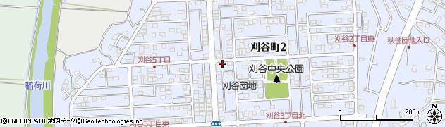 茨城県牛久市刈谷町周辺の地図