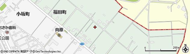 茨城県牛久市福田町周辺の地図