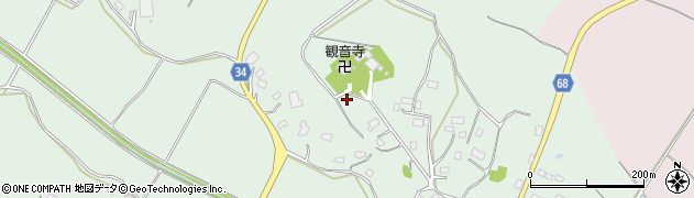 茨城県牛久市久野町周辺の地図